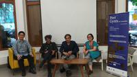 Media gathering Teater Garasi yang akan mengadakan kolaborasi inter-Asia pertama dengan tema Peer Gynts di Larantuka, Flores Timur dengan seniman empat negara di Asia, Ke:Kinian, Menteng, Jakarta Pusat, Kamis, 20 Juni 2019 (dok. Liputan6/Fairuz Fildzah)