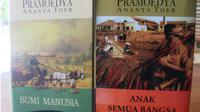 Tetralogi Pramoedya Ananta Toer. (Liputan6.com/Ahmad Adirin)