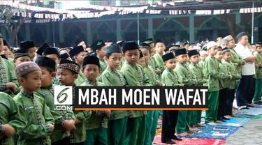 Ratusan siswa madrasah di Mojokerto Jawa Timur gelar salat gaib untuk KH Maimun Zubair yang wafat di Makkah hari Selasa (6/8/2019).
