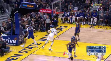 Berita Video Highlights NBA 2019-2020, Utah Jazz Vs Golden State Warriors 129-96
