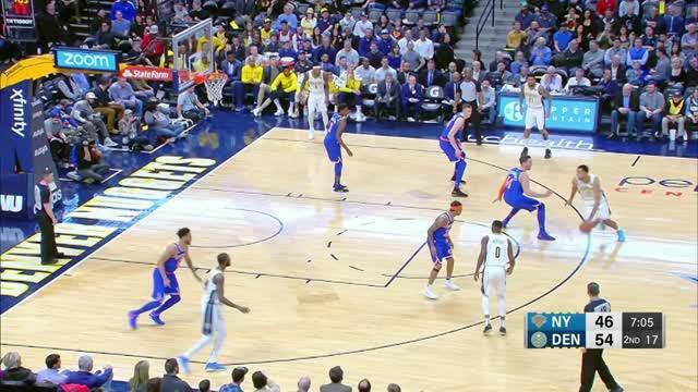 Berita video game recap NBA 2017-2018 antara Denver Nuggets melawan New York Knicks dengan skor 130-118.