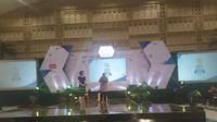 Wali Kota Surabaya Tri Rismaharini menjadi pembicara di kegiatan EGTC 2019 di Graha Unesa pada Kamis, 7 November 2019. (Foto: Liputan6.com/Dian Kurniawan)