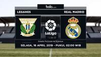 La Liga - Leganes Vs Real Madrid (Bola.com/Adreanus Titus)