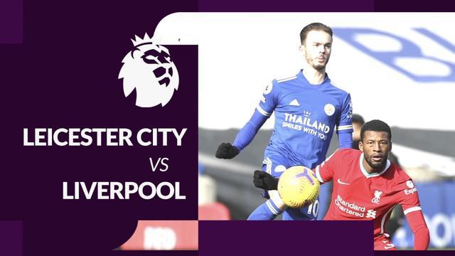 Berita motion grafis data dan statistik Liga Inggris 2020/2021 untuk laga Leicester City kontra Liverpool pada pekan ke-24 dengan hasil akhir 3-1, Sabtu (13/2/2021) malam hari WIB.