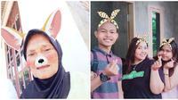 Foto Netizen Saat Enggak Sengaja Pakai Filter Ini Bikin Senyum-senyum (sumber: Twitter/ @saivlor dan @beeeellllsss)