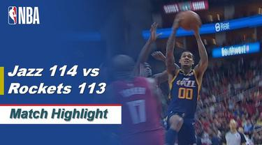 Berita Video Highlights NBA 2019-2020, Utah Jazz Vs Houston Rockets 114-113