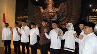 8 kepala daerah sampaikan pesan perdamaian di Istana Kepresidenan Bogor. (Istimewa)