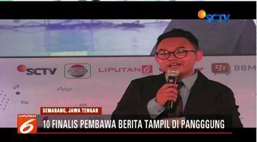 Hari kedua Emtek Goes To Campus (EGTC) 2018 di Universitas Negeri Semarang dimeriahkan dengan penjurian 10 finalis kompetisi pembawa berita.