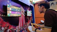 Suasana booth Taiko No Tatsujin di PlayStation Play Everything di Mal Kelapa Gading 3. Liputan6.com/Jeko Iqbal Reza