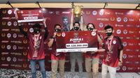 Tim dari SMAN 13 Depok menjadi juara dalam Piala Pelajar Game Free Fire se-Jabodetabek musim pertama. (dok. PBESI)