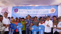 Menhub Budi bertemu korban gempa Lombok (Liputan6.com/dokumentasi humas Menhub)