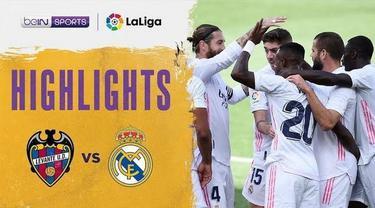 Berita video highlights kemenangan Real Madrid 2-0 atas Levante pada pekan kelima Liga Spanyol 2020/2021, di mana Vinicius Junior menorehkan gol indah dalam laga tersebut, Minggu (4/10/2020) malam hari WIB.