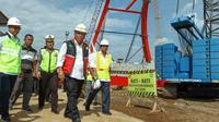 Pemerintah menargetkan Jembatan Kali Kuto bisa dilalui H-2 Lebaran. (Dok Kementerian PUPR)