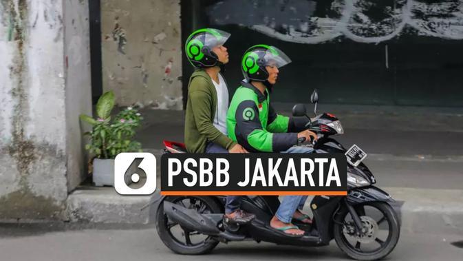 VIDEO: Ojek Dilarang Angkut Penumpang Saat PSBB Jakarta