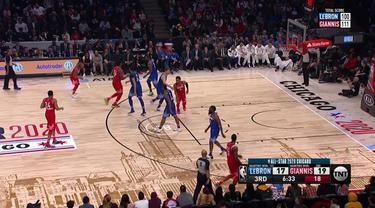 Berita Video Highlights NBA All Star 2020, Tim LeBron James Vs Tim Giannis Antetokounmpo 157-155