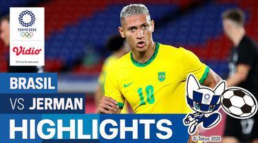 Berita video highlights pertandingan sepak bola putra Olimpiade Tokyo 2020 antara Brasil melawan Jerman di International Stadium Yokohama, Kamis (22/7/2021) malam WIB.