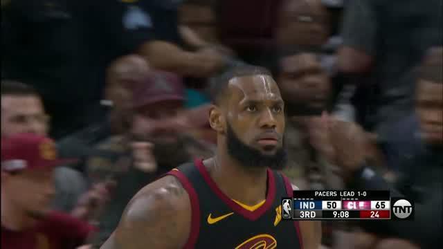 Berita video game recap NBA 2017-2018 antara Cleveland Cavaliers melawan Indiana Pacers dengan skor 100-97.