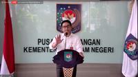 Direktur Jenderal (Dirjen) Bina Keuangan Daerah (Keuda) Kemendagri Mochamad Ardian, dalam konferensi pers Langkah - Langkah Percepatan Penyerapan APBD di Kantor Kemendagri, Jakarta Pusat, Senin (31/5/2021).