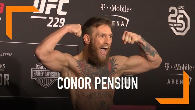 Petarung Irlandia Conor McGregor mengumumkan pengunduran dirinya dari pertarungan mixed martial arts (MMA). Ia mengunggah kabar ini melalui Twitter.