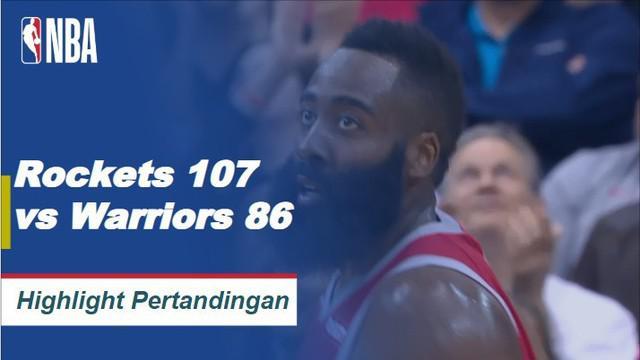 James Harden memicu Rockets untuk menang atas Golden State, mencetak 27 poin dan meraih tiga rebound dalam kemenangan.