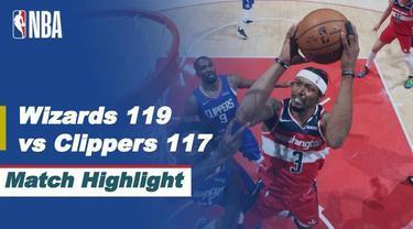 Berita Video Highlights NBA, Washington Wizards Menang Tipis atas LA Clippers 119-117 (5/3/2021)