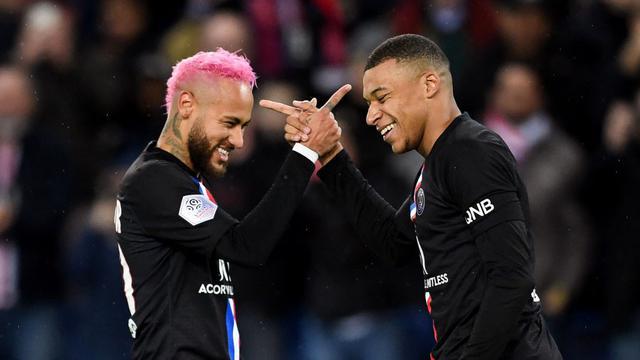 Neymar dan Kylian Mbappe