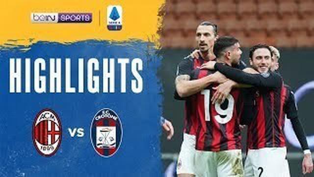 Berita video gol-gol dari Zlatan Ibrahimovic dan Ante Rebic saat AC Milan menang 4-0 atas Crotone pada pekan ke-21 Liga Italia 2020/2021, Minggu (7/2/2021) malam hari WIB.