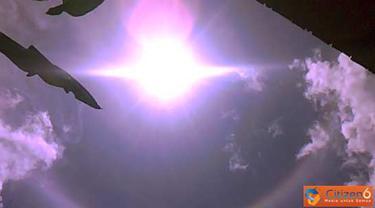 Citizen6, Kalimantan: Fenomena halo matahari terjadi di Tumbang Samba, Kalimantan Tengah. (Pengirim: Novi Nur)