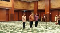 Menteri Keuangan Sri Mulyani melantik pejabat Eselon I Kemenkeu, yaitu Suminto sebagai Staf Ahli Bidang Makro Ekonomi dan Keuangan Internasional di Aula Mezzanine Kemenkeu, Jakarta, Kamis (3/10/2019)