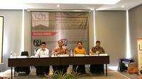 Lembaga Survei Indonesia (LSI) merilis temuan survei nasional, Kamis (29/8/2019). (Liputan6.com/Delvira Chaerani Hutabarat)