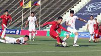 Duel Timnas Vietnam U-22 vs Timnas Filipina U-22 di Piala AFF U-22 2019 di Olympic Stadium, Minggu (17/2/2019). (Bola.com/Dok. VFF)