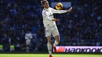 """1. Gareth Bale - Kapten timnas Wales tersebut dijuluki sebagai """"Bolt"""". Julukan tersebut didapatkan usai mempermalukan bek Barcelona, Marc Bartra di final Copa Del Rey 2014. (AFP/Gabriel Bouys)"""