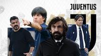 Andre Pirlo, Gennaro Gattuso, Joachim Loew, Simone Inzaghi. (Bola.com/Dody Iryawan)