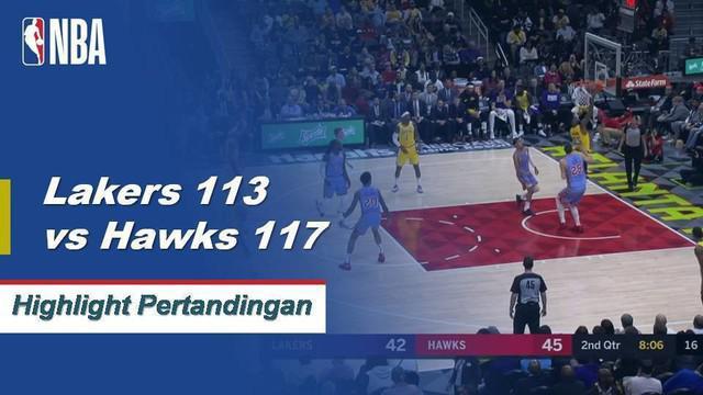 Trae Young mencetak 22 poin dan memberi 14 assist membawa Atalanta menang di kandang atas Los Angeles Lakers