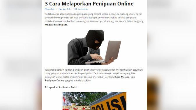Cek Fakta Korban Penipuan Online Bisa Lapor Lewat Email Cek