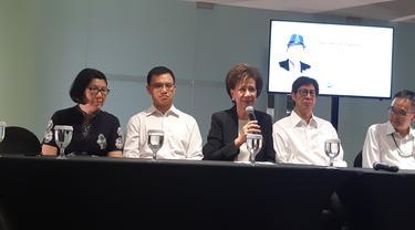 Keluarga Ciputra melakukan konferensi pers di  Ciputra Word I, Kuningan, Jakarta, Kamis (28/11/2019).