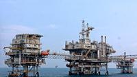 Dengan realisasi produksi minyak nasional 796,5 MBOPD dan gas 6,897 MMSCFD pada semester I 2014, pemerintah berupaya menahan laju produksi melalui pengembangan lapangan dan mencegah gangguan produksi, (28/7/2014). (ANTARA FOTO/Muhammad Adimaja)