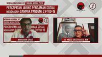 Webinar Nasional Taruna Merah Putih (TMP) dengan tema Percepatan Jaring Pengaman Sosial Menghadapi Pandemi Covid-19, Minggu (19/7/2020) malam. (Ist)