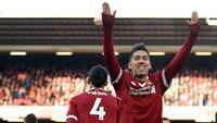 5. Roberto Firmino (Liverpool) - 13 Gol (1 Penalti). (AFP/Oli Scarff)