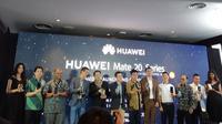 Huawei luncurkan Mate 20 series. (Liputan6.com/ Agustin Setyo Wardani)
