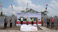 Peletakan batu pertama pembangunan fasilitas boiler biomassa di Klaten. (Istimewa)