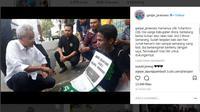 Pria Ini Rela Jalan Kaki 5 Hari demi Dukung Ganjar Pranowo. (Liputan6.com/Instagram Ganjar Pranowo)