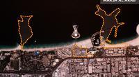 Lokasi lahan reklamasi untuk proyek Marsa Al Arab, Dubai.