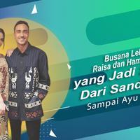 Busana Lebaran Raisa dan Hamish Daud yang jadi sorotan. (Foto: Instagram/raisa6690 Desain: Nurman Abdul Hakim/Bintang.com)