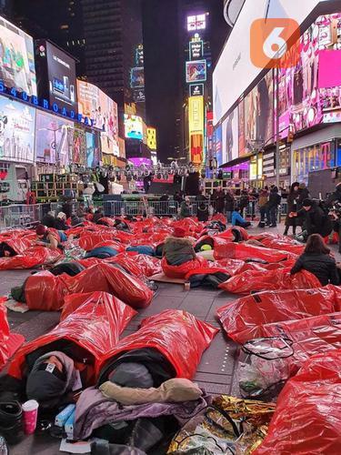 World's Big Sleep Out di New York.
