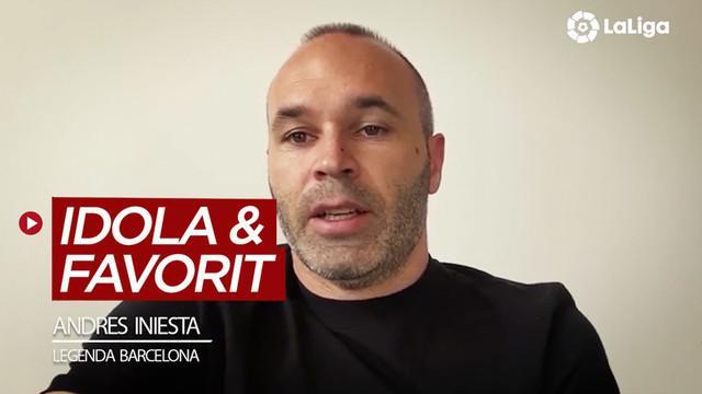 Berita video legenda Barcelona, Andres Iniesta, menyebutkan dua pemain idolanya dan lima gelandang favoritnya di La Liga. Siapa saja mereka?
