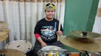 Drummer down syndrome. Foto: Dokumen Pribadi Imansyah Aditya Fitri.