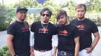Band Radja saat merayakan ulang tahun ke-17 di Hard Rock Cafe, Jakarta