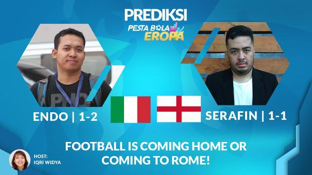 Cover Prediksi Euro 2020, Final Ideal! Inggris dan Italia Akan Bermain Menyerang Sejak Awal