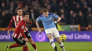 Gelandang Manchester City, Kevin De Bruyne (OLI SCARFF / AFP)